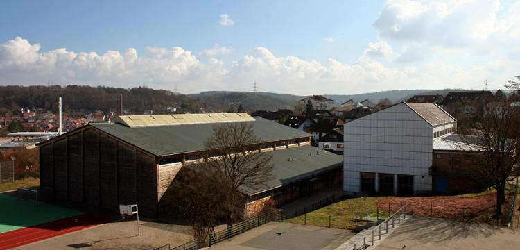 Blick von der Schule über die Pfalz
